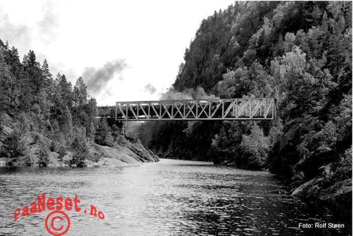 JErnbanebro Damp Tog Veteran Jernbane Setesdalsbanen Foto Rolf Støen