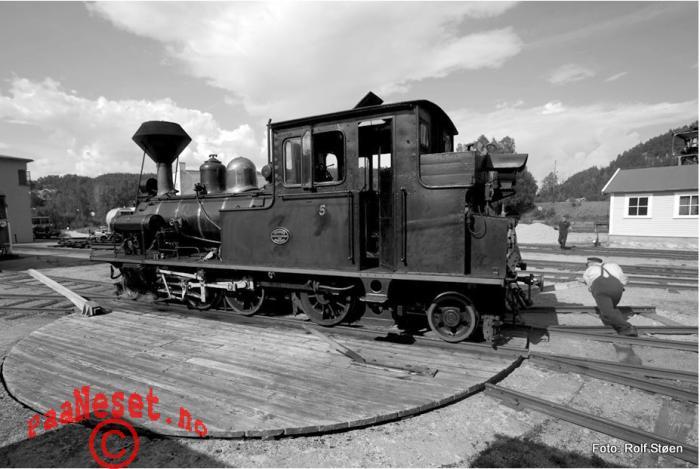 Dreieskive Damp Tog Veteran Jernbane Setesdalsbanen Foto Rolf Støen