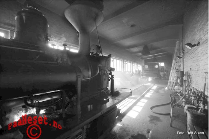 Lokstall Damp Tog Veteran Jernbane Setesdalsbanen Foto Rolf Støen