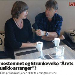 "Blir Hilmestemnet og Strunkeveko ""Årets folkemusikkarrangør""? Ellen Persvold IVar Brynildsen. Videofilming Roy Myrland www.langsveien.no Redigering Ben Ormstad Avisa Valdres"