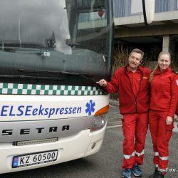 Trivelig vertskap på Helseekspressen Tore Sagløkken, Stine Natadal og Jan Einar Sjøflot Foto Jan Arne Dammen