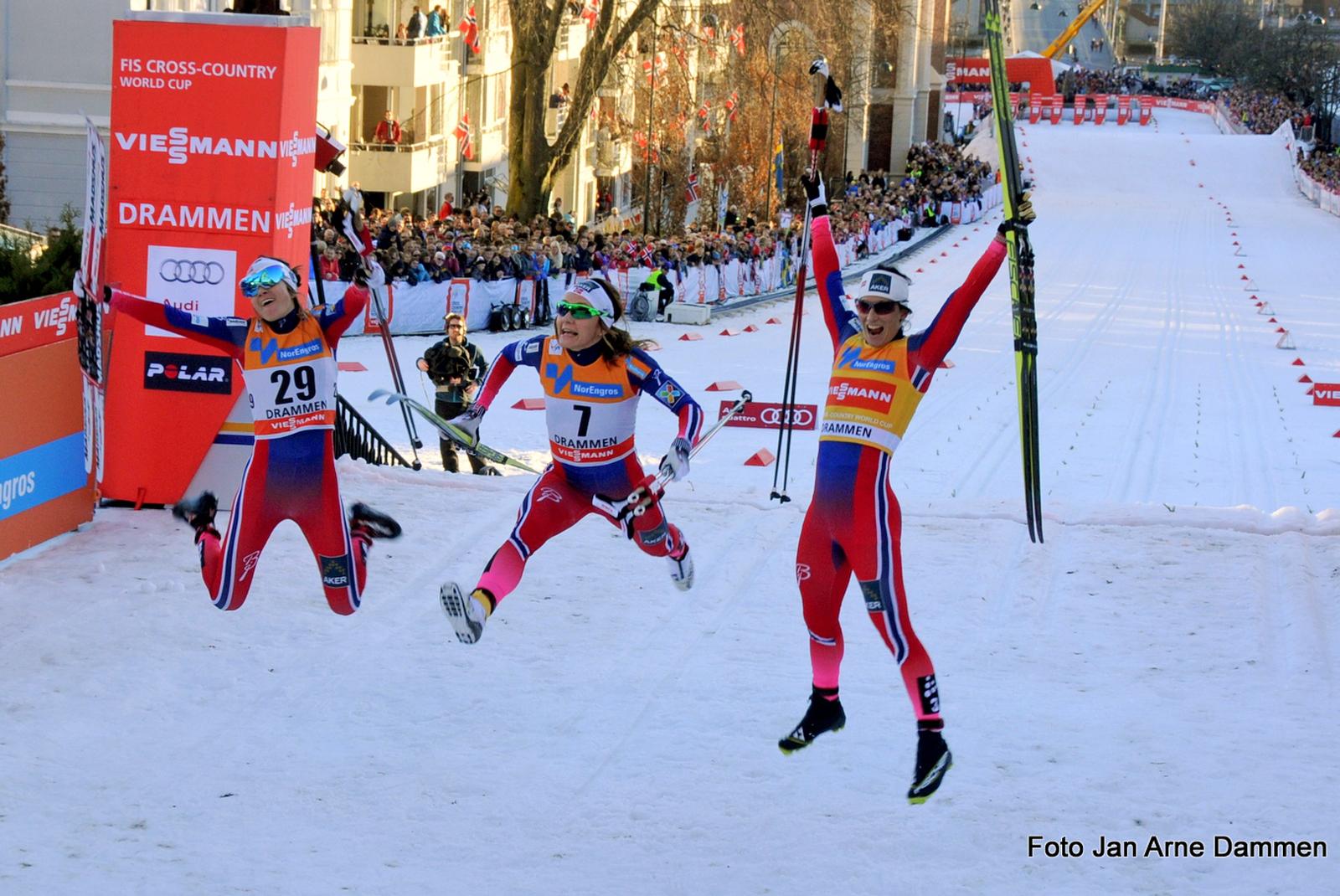 Jublende vinnere i World Cup Drammen, Foto Jan Arne Dammen