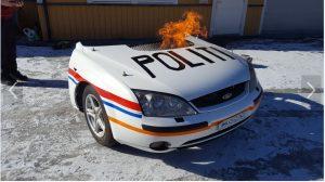 Politigrill politi panser front ford mondea nord-aurdal ungdomsskole