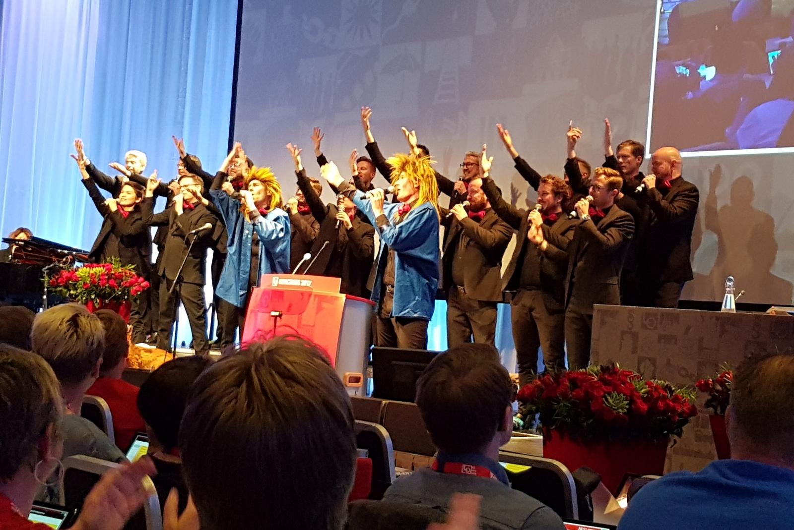 Oslo fagottkor underholdt på LO kongressen