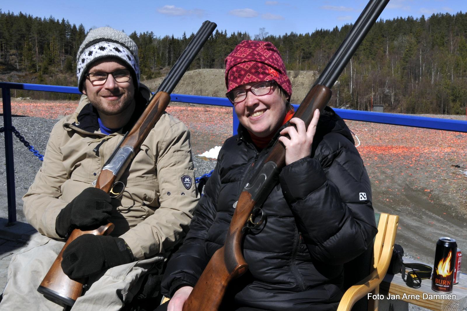 Atle Kristian Kolbeinsen og Magni Sørgaard fra NHF Halden Aremark. Foto Jan Arne Dammen