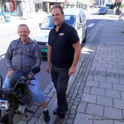 Torgeir Larsen og Thorbjørn Abrahamsen Kongegata i Larvik. Foto Roy Myrland