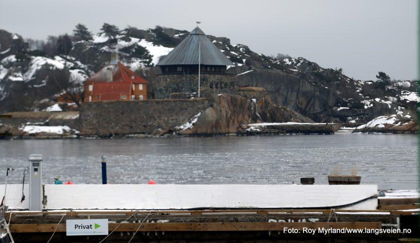 Citadellet, Stavernsøya, Kruttårn, Kystby, Skagerrakk , Islagt LArvik havn Foto Roy Myrland