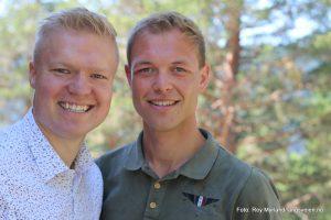 Sondre Aastveit og Tor Myrvold Hegge i Gamasamas. Foto roy myrland