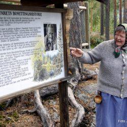 Møte med Berte Skrukkefyllhaugen  - Bjørneparken i Flå