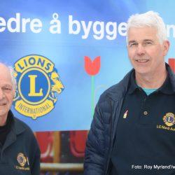 President i Lions nord-Aurdal SveinArild Aarø og Past President Ragnar Diseth Foto Roy myrland