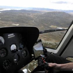 Lite snø på Østlandet - To helikoptre i skogbrannberedskap