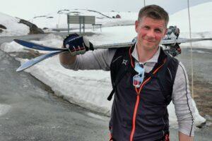 Fine ski og god glid. -Flotte forhold for randonee ved Beitostølen nå.